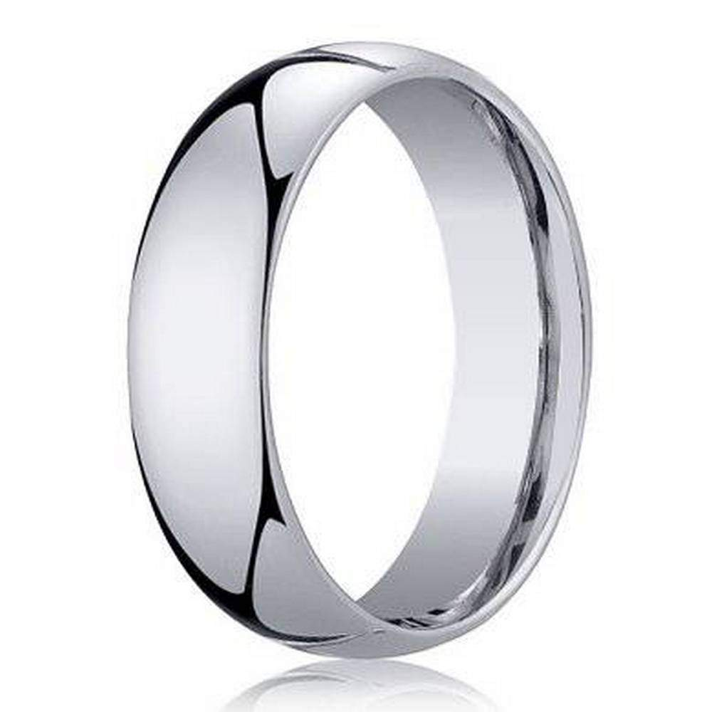 Benchmark Mens Wedding Band in 950 Platinum Classic Design 5mm