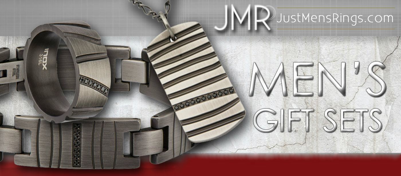 JustMensRings Offers Men's Jewelry Sets