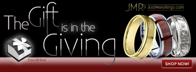 JustMensRings Tungsten and Titanium Men's Rings and Free Gift Box!