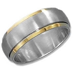Gold Plated Brushed Spinner Ring - JP3091