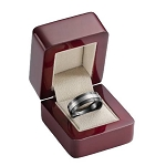 Rosewood Ring Box with Suede Lining from the Amsterdam Collection - JRB0108