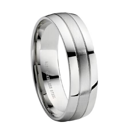 Stainless Steel Wedding Band JSS0005 JSS0005