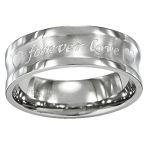 "Stainless Steel ""Forever Love"" Ring - JSS0038"