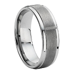 Dual Finish Tungsten Carbide Wedding Ring - JTG0004