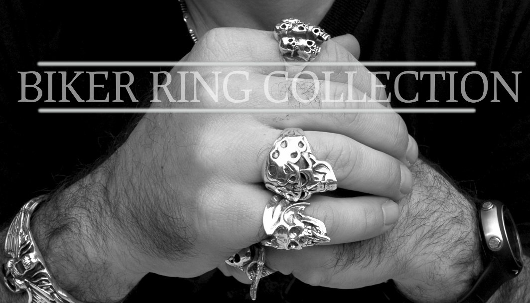 Biker Ring Collection at JustMensRings