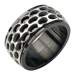 Men's Stainless Steel Car Grille Black IP Polish Finished Ring