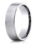 Designer 950 Platinum Men's Wedding Ring With Rounded Edges | 6mm