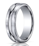 Designer 950 Platinum Polished Cut Men's Wedding Ring  | 7.5mm