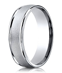 Designer 950 Platinum Men's Wedding Ring With Wired Finish | 6mm