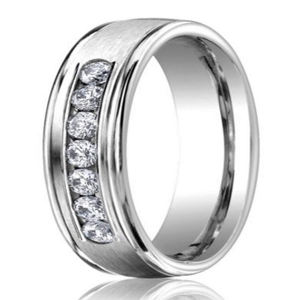 6mm Men S 950 Platinum Diamond Wedding Ring