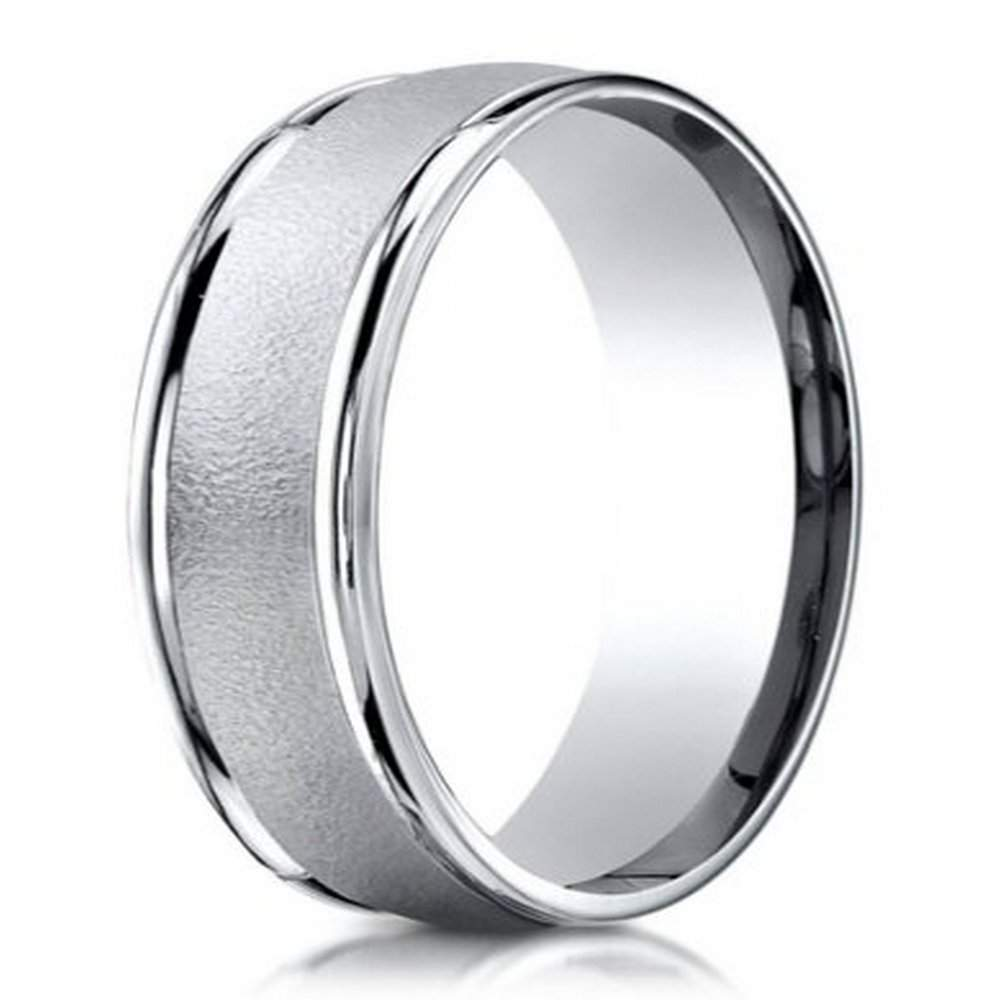 Men s palladium wedding ring in wired finish  6mm  Just Men s Rings. Mens Cross Wedding Band. Home Design Ideas
