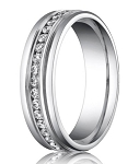 Benchmark Palladium Men's Diamond Eternity Wedding Ring | 6mm