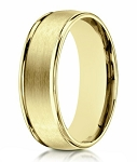 Designer 10K Yellow Gold Men's Ring With Polished Edges | 8mm