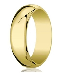 Designer 8 mm Traditional Domed Polished Finish 14K Yellow Gold Wedding Band - JB1067