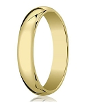 Designer 6 mm Traditional Domed Polished Finish 14K Yellow Gold Wedding Band - JB1072