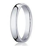 18K White Gold Classic Men's Designer Wedding Band, Heavy Fit | 4.5mm