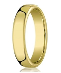 18K Yellow Gold Wedding Band For Men With Heavy Comfort Fit | 6.5mm