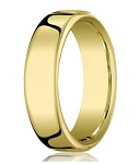Designer Men's 18K Yellow Gold Wedding Band, Heavy Comfort Fit | 7.5mm