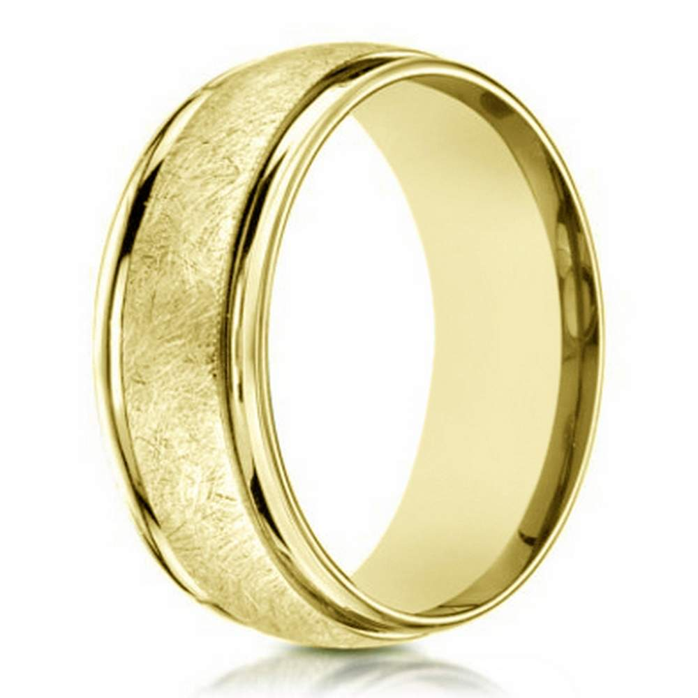 contemporary s 14k yellow gold wedding band 6mm width