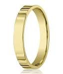 Men's Designer 14K Yellow Gold Wedding Ring, Flat Profile | 4mm