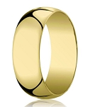 Men's 14K Yellow Gold Designer Wedding Ring, Polished Dome | 10mm