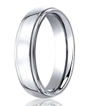 Designer Cobalt Chrome Rounded Edge Wedding Ring with Polished Finish | 5mm - JBCB1001