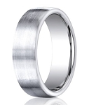 Designer Cobalt Wedding Ring with Flat Profile and Satin Finish | 7.5mm - JBCB1020