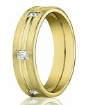 Designer Diamond Eternity Ring in 14K Yellow Gold, Center Cut | 4mm