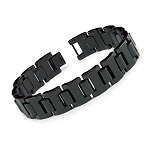 Men's Black Tungsten Bracelet with Glossy Finish  - JBR1014