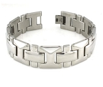 Geometric Stainless Steel Bracelet For Men With Polished Finish