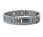 Titanium Men's Bracelet With Satin Center and Polished Edges