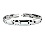 Men's Tungsten Bracelet With High Polished Cross Links