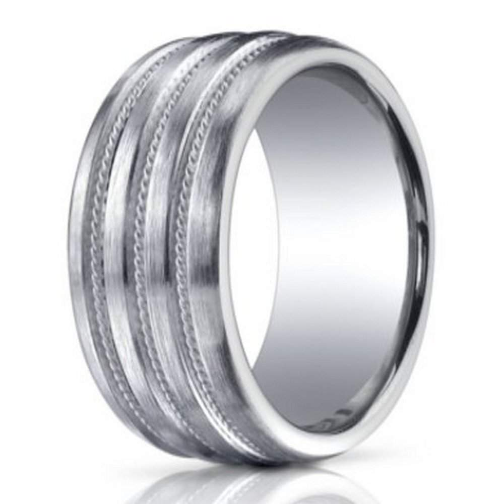 argentium silver ring in brushed satin finish 10mm