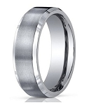 Men's Benchmark Titanium Wedding Band with Satin Finish and Polished Edges | 7mm - JBT1012