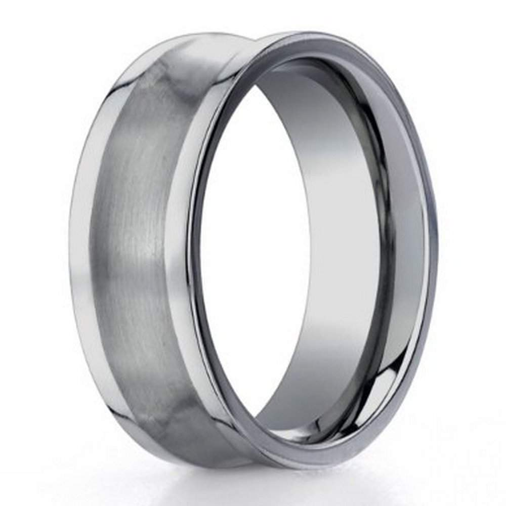 Benchmark Titanium Concave Satin Finish Men S Wedding Ring
