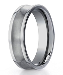Benchmark Titanium Concave Satin Finish Men's Wedding Ring | 6mm