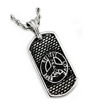 Men's Stainless Steel Pendant With Peace Sign