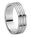 Stainless Steel 7 mm Wedding Band - JP3044