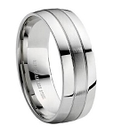 Stainless Steel Wedding Band - JSS0005
