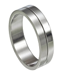 Dual Finish Stainless Steel Ring - JSS0022