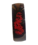 Black Stainless Steel Ring With Red Dragon Design - JSS0083