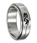 Stainless Steel Dragon Spinner Ring - JSS0100