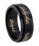 "Men's ""Lord of the Rings"" Stainless Steel Spinner Ring 
