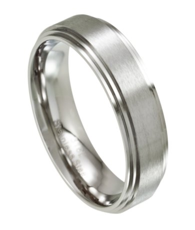 Mens wedding ring stainless