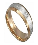 "Titanium Two-Toned ""Forever Love"" Ring - JT0017"