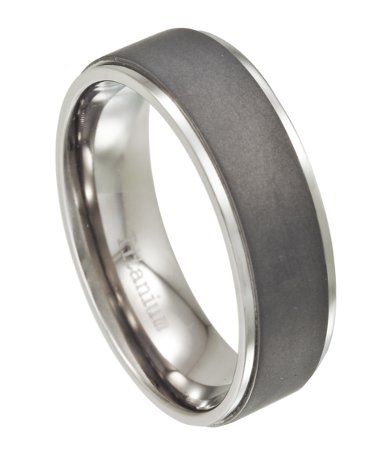 Titanium Men 39 S Wedding Ring With Matte Finish