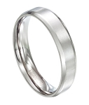 Men's Titanium Wedding Ring with Polished Beveled Edges | 6mm