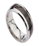 Men's Titanium Ring with Brazilian Rosewood Center Inlay | 8mm