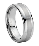 Dual Finish Tungsten Wedding Band - JTG0003