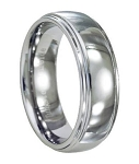 Ridged Tungsten Wedding Band - JTG0040